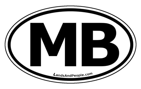 Manitoba MB Province Car Bumper Sticker Vinyl Oval