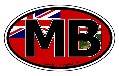 Manitoba MB Province Flag Car Bumper Sticker Vinyl Oval