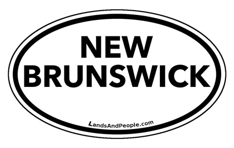 New Brunswick Province Car Bumper Sticker Vinyl Oval
