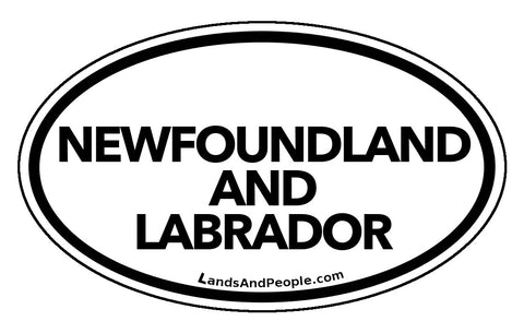 Newfoundland and Labrador Province Car Bumper Sticker Vinyl Oval