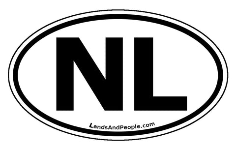 Newfoundland and Labrador NL Province Car Bumper Sticker Vinyl Oval