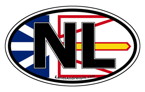 Newfoundland and Labrador NL Province Flag Car Bumper Sticker Vinyl Oval