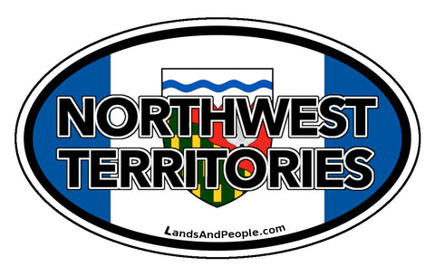 Northwest Territories Flag Car Bumper Sticker Vinyl Oval