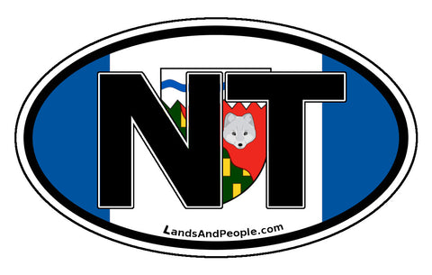 Northwest Territories Flag NT Car Bumper Sticker Vinyl Oval