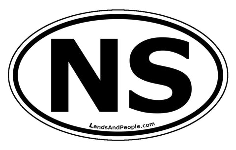 Nova Scotia NS Province Car Bumper Sticker Vinyl Oval
