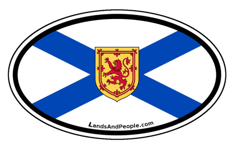 Nova Scotia Province Flag Car Bumper Sticker Vinyl Oval