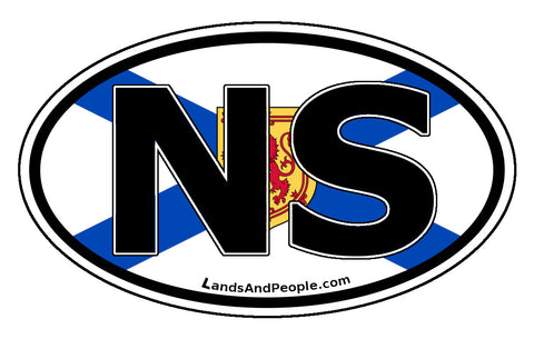 Nova Scotia NS Province Flag Car Bumper Sticker Vinyl Oval