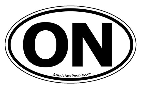 Ontario ON Province Car Bumper Sticker Vinyl Oval