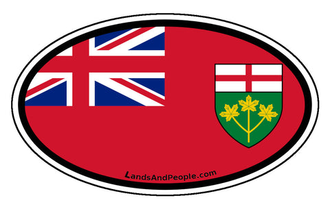 Ontario Province Flag Car Bumper Sticker Vinyl Oval