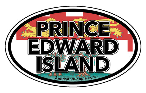 Prince Edward Island Province Flag Car Bumper Sticker Vinyl Oval