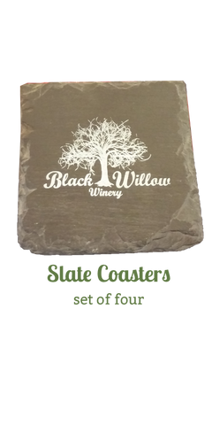 Black Willow Slate coasters
