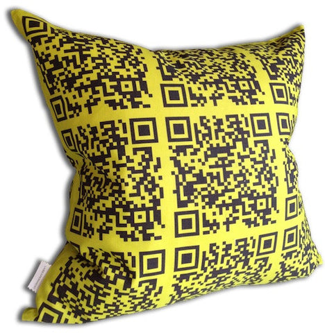 Encoded™ Throw Pillow - Citron