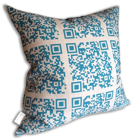 Encoded™ Throw Pillow - Peacock