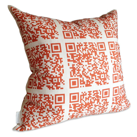 Encoded™ Throw Pillow - Persimmon