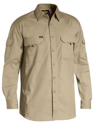 Bisley X Airflow Ripstop Mens Work Shirt - Long Sleeve
