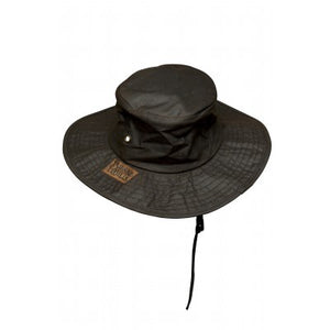 Burke and Wills Flinders Oilskin Hat with Wide Brim