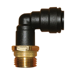 "John Guest 1/2"" Brass Male Adapter With 12mm Plastic Elbow"