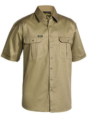 Bisley Closed Front Cotton Drill Shirt - Short Sleeve
