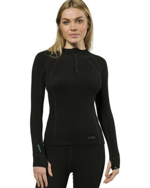 XTM Womens Merino Thermal Baselayer w/ Zipneck