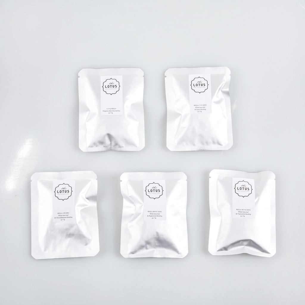 The Lotus 5 Tea Bag Set - White Lotus Leaf & Peppermint