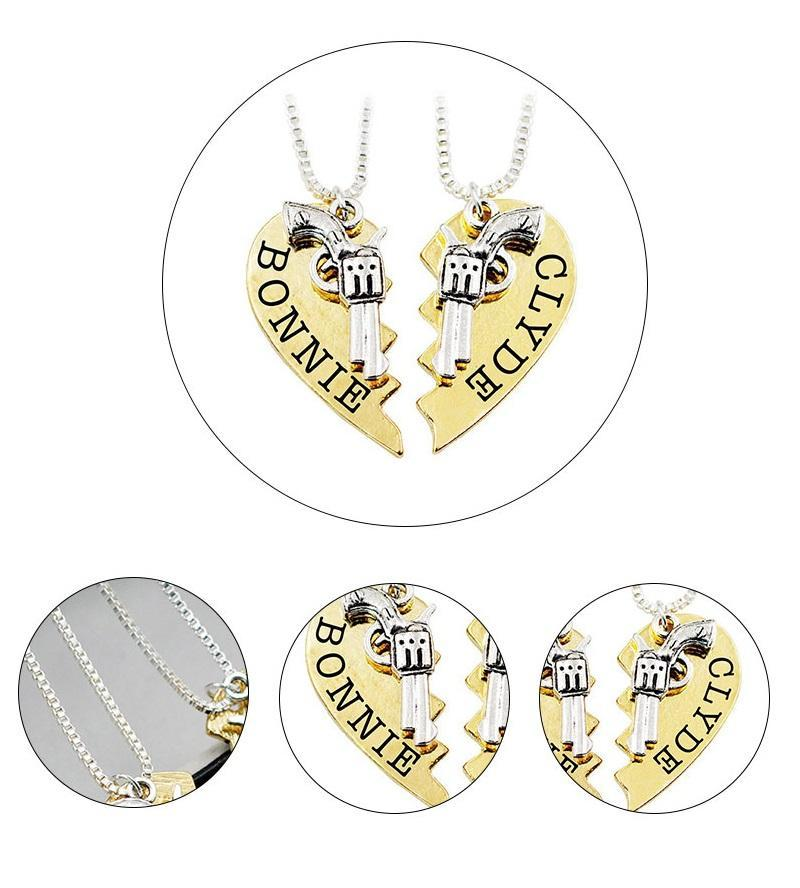 FREE Bonnie & Clyde Couples Necklace