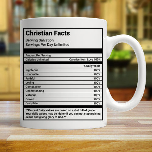 Christian Facts coffee cup