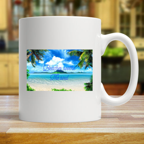 beaches soothe the soul mug