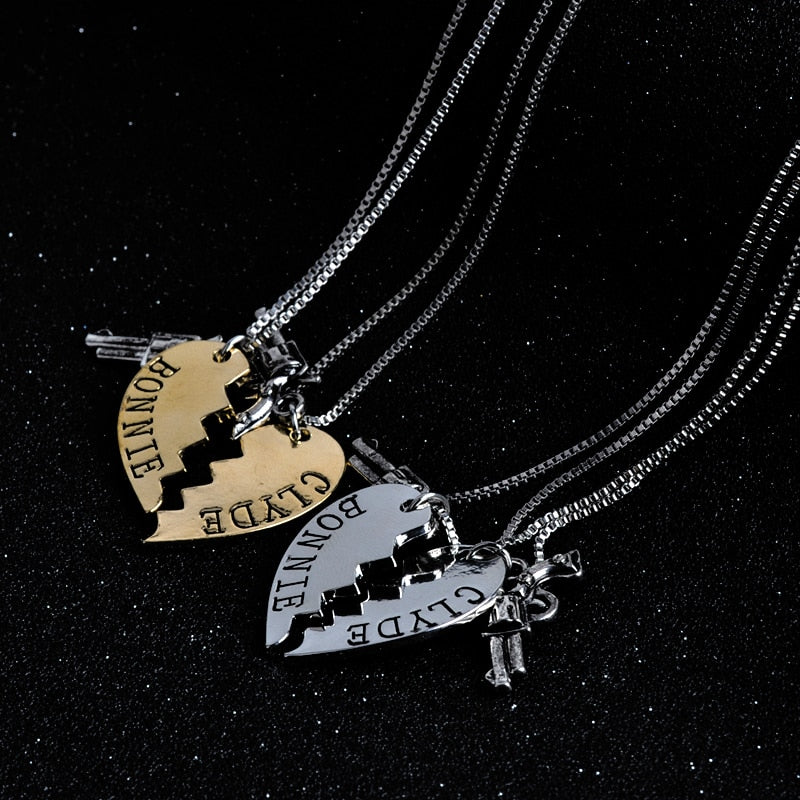 FREE Bonnie & Clyde Couples Necklace Limited Time Only!