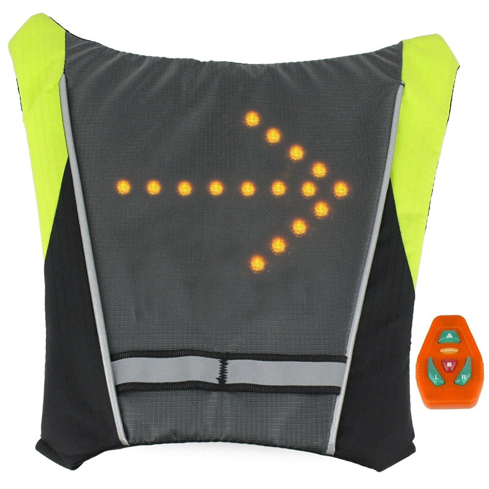 LED Turn Signal Light Reflective Vest Backpack Sport Outdoor Waterproof for Safety Night Cycling / Running / Walking