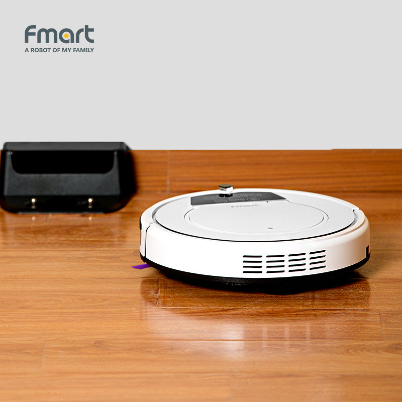 Fmart E-550W  Robot Vacuum Cleaner Home Cleaning Appliances 3 In 1 Suction  Sweeper  Mop One Machine, LED Display