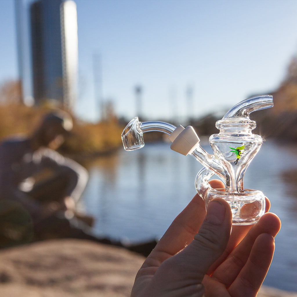 THE MERLIN RECYCLER JOINT BUBBLER AND MINI-RIG