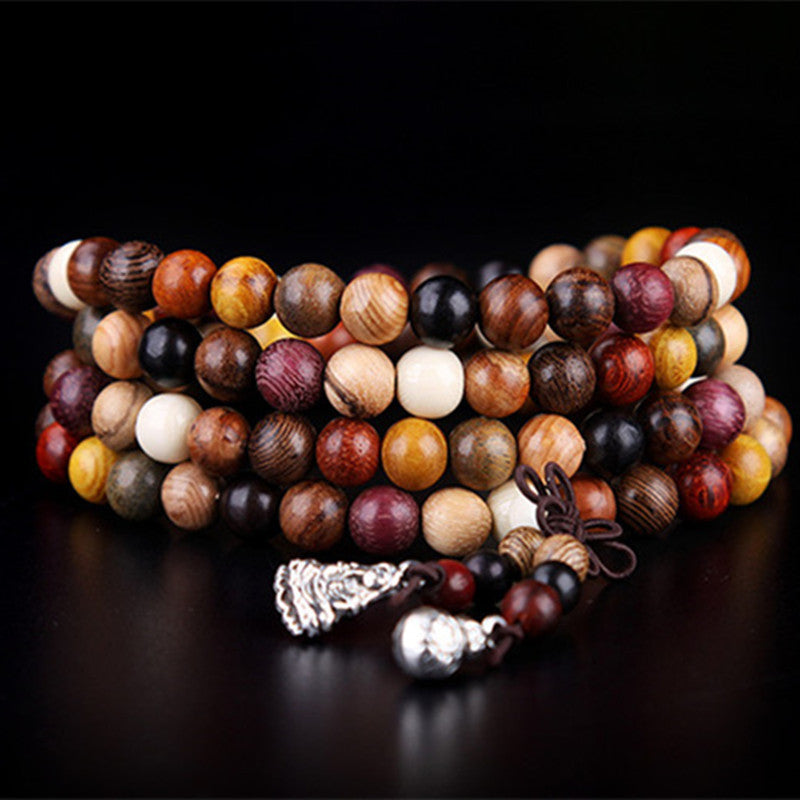 Buddhist Mixed Sandalwood Mala Bracelet