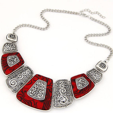 Bohemian Ethnic Choker Necklace