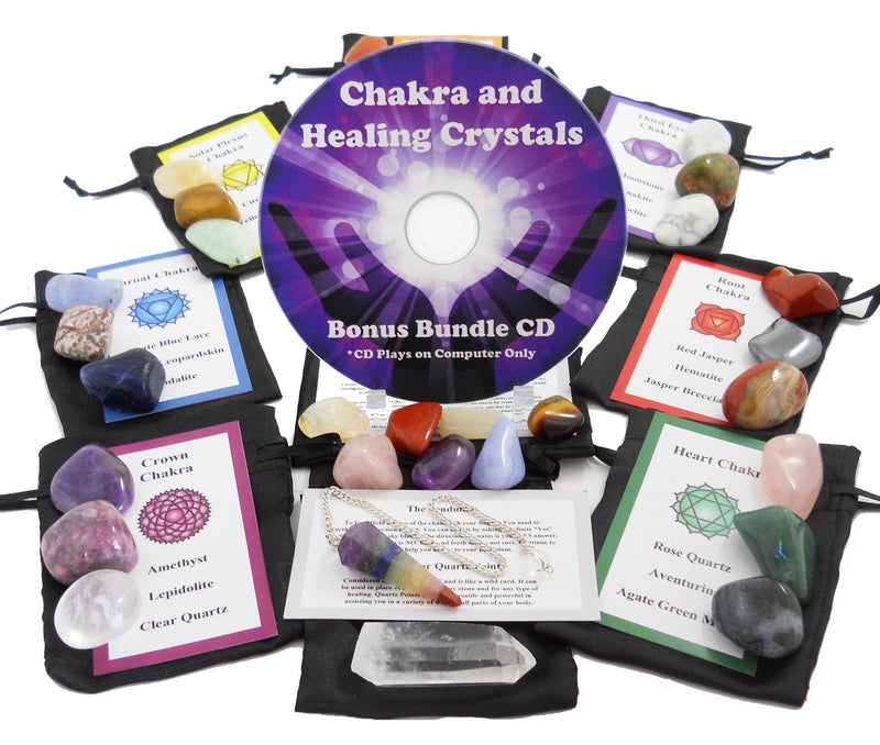 30 Stone Ultimate Reiki Healing Kit Bonus Chakra Guide Cd