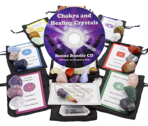 30 Stone Ultimate Reiki Healing Kit (Bonus Chakra Guide CD)