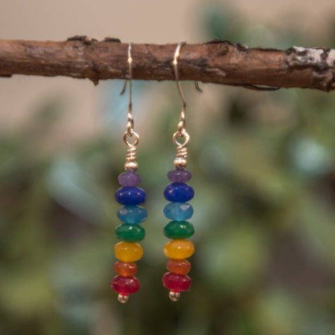 7 Chakra Dangle Earrings