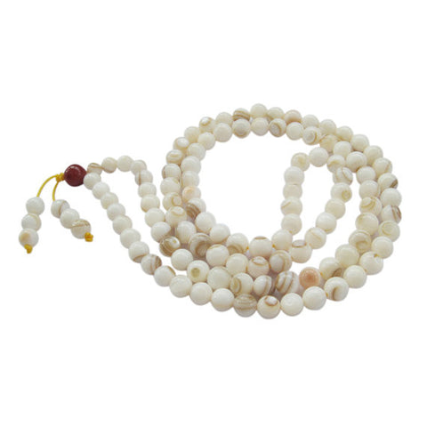 Sea Shell Buddhist Prayer Mala