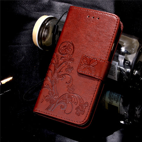 Butterfly Floral Leather Case
