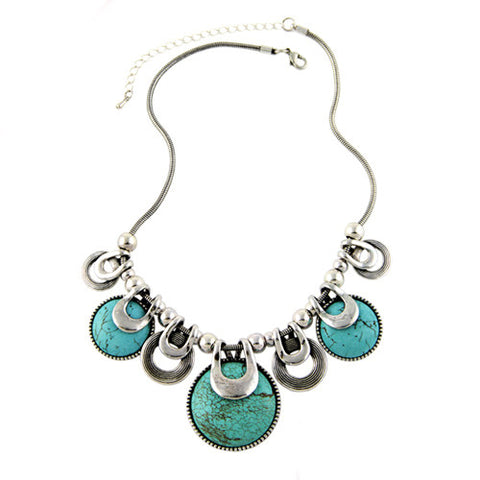 Turquoise Ethnic Choker Necklace