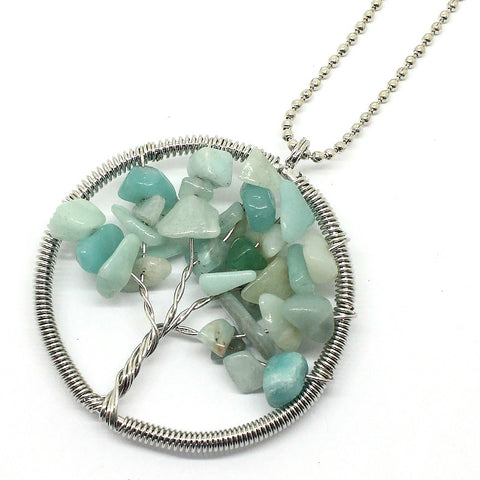 Amazonite Tree Of Life Necklace