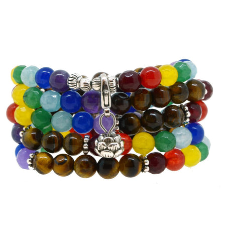 lotus perfect mala tiger chakra eye mindyana colorful collections equanimity bracelet large