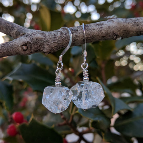 Crown Chakra Crystal Quartz Earrings