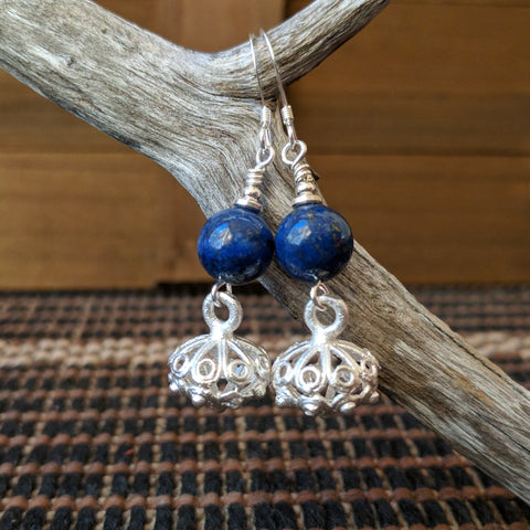 Poetic Wisdom Lapis Lazuli Earrings
