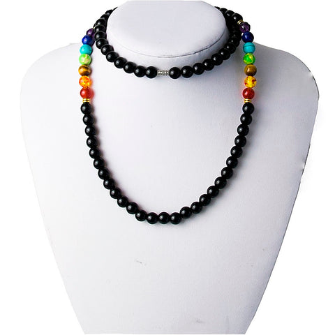 Long Chakra Bead Necklace
