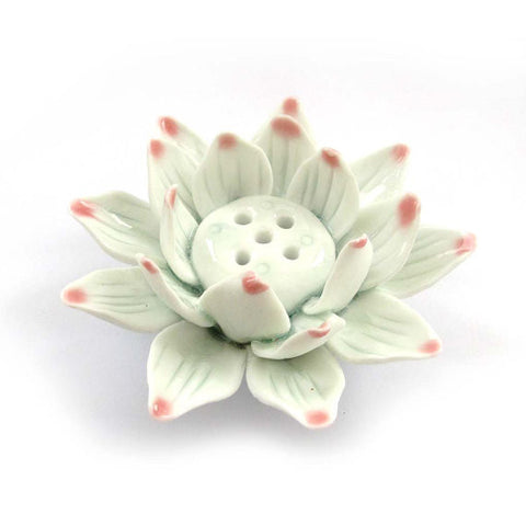 Buddhist Porcelain Lotus Flower Incense Holder