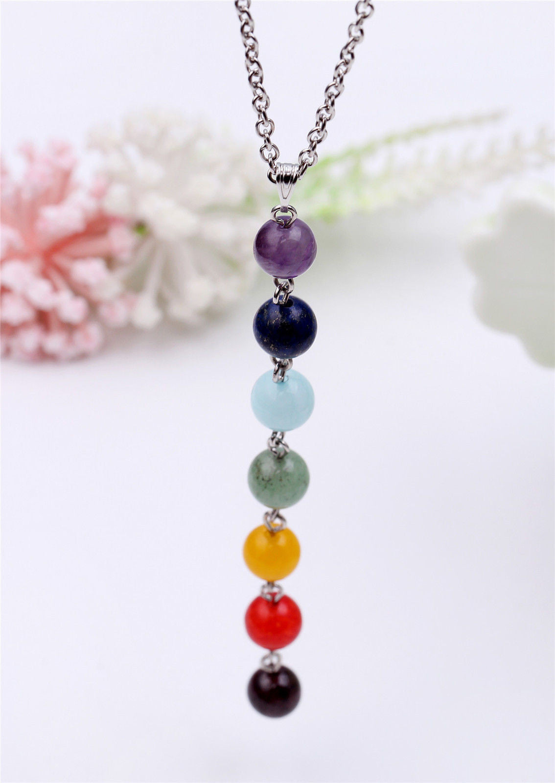 7 Chakra Bead Necklace Mindyana Perfect Equanimity