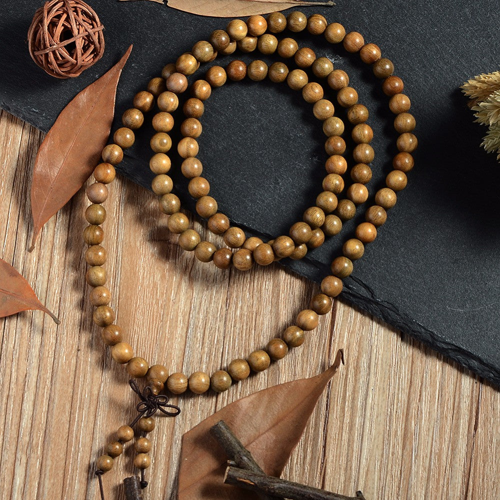 Buddhist Natural Sandalwood Mala Bracelet