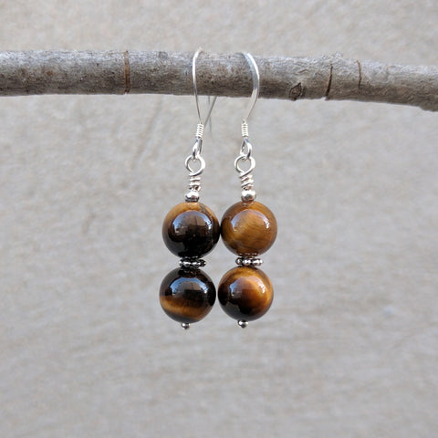 Divine Vision Tiger's Eye Earrings