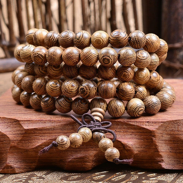 Buddhist Wenge Beads Mala Bracelet Mindyana Perfect
