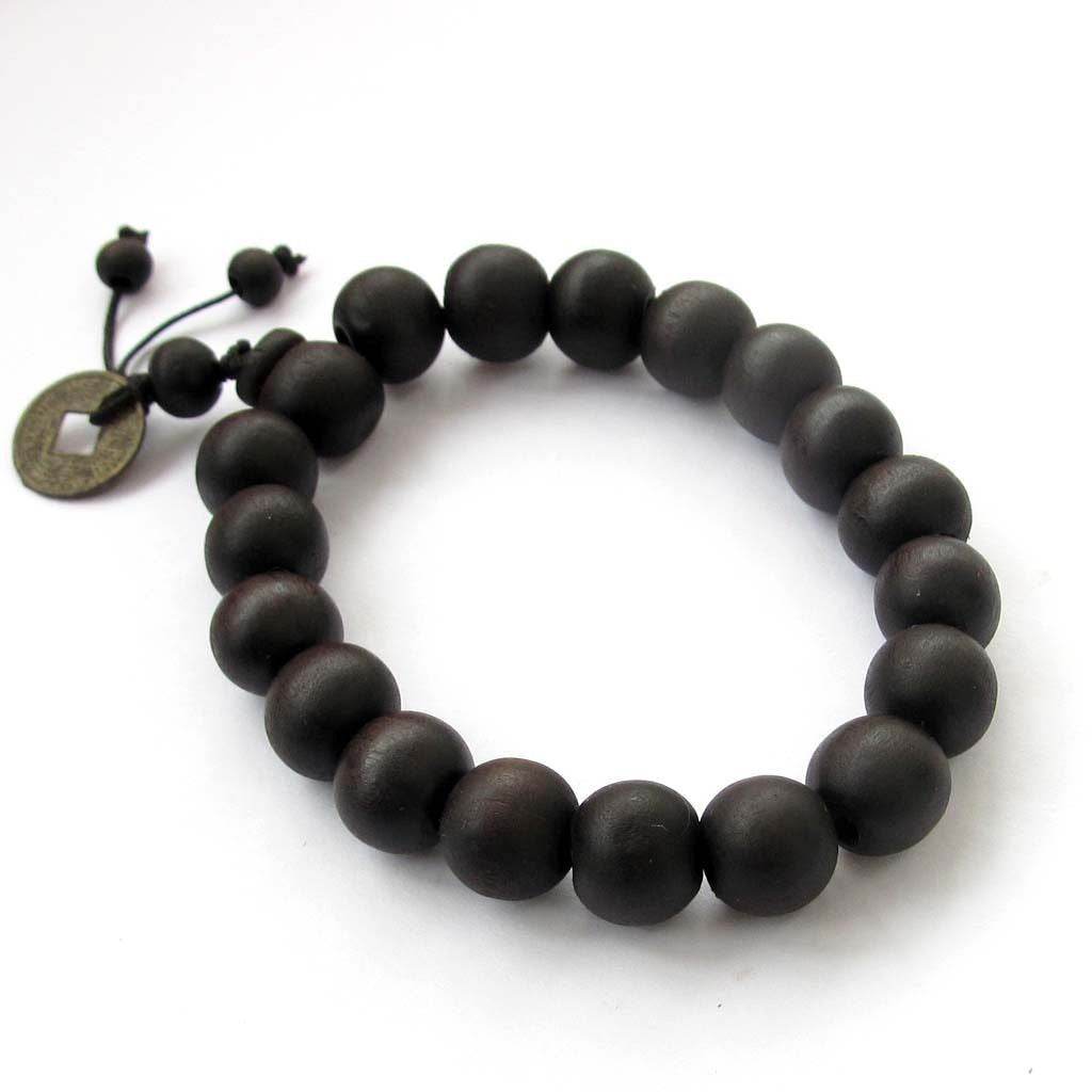 Buddhist Wood Prayer Bracelet